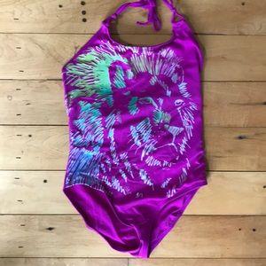 Girls' one-piece swimsuit bathing suit